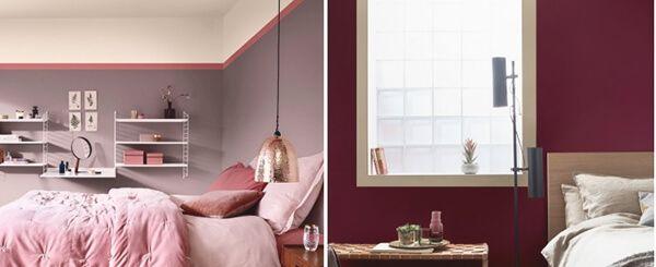 ev dekorasyonu kırmızı ve mor renk