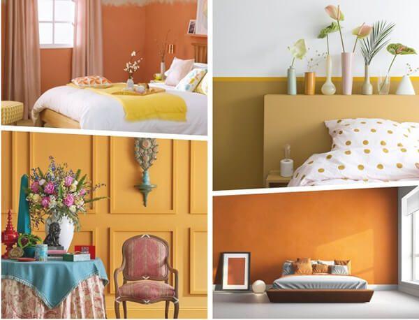 ev dekorasyonu sarı ve turuncu renkler