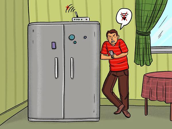 buzdolabinin wifi sinyalini engellemesi