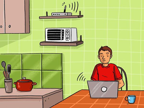 mikrodalga wifi sifresi engelleme