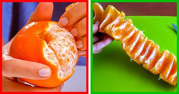 portakal soymak