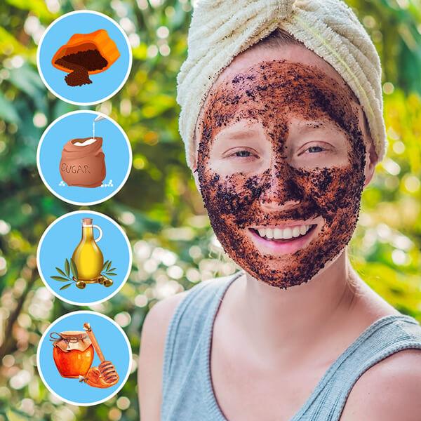 ev yapimi kahve maskesi tarifi
