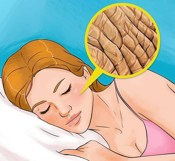 Makyajla uyumanın zararları