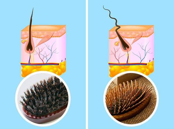3. Yanlış fırça kullanımı Doğru fırçayı kullanmak saçınızın kırılmasını önleyerek daha sağlıklı görünmesine yardımcı olur. Dalgalı ve kıvırcık saçlarınız varsa, düğümleri kolayca çözeceği için bir kürek fırçasını tercih edin. Saçınız ince ve hacimli değilse, yaban domuzu kılından yapılan bir fırça, saçınıza zarar vermeden veya kökleri çekmeden saçınızı rahatça açacaktır.