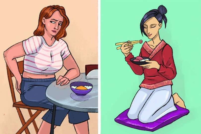 yerde oturarak yemek yemenin faydaları